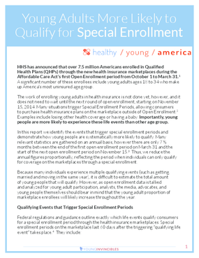 Young Adults More Likely to Qualify for Special Enrollment