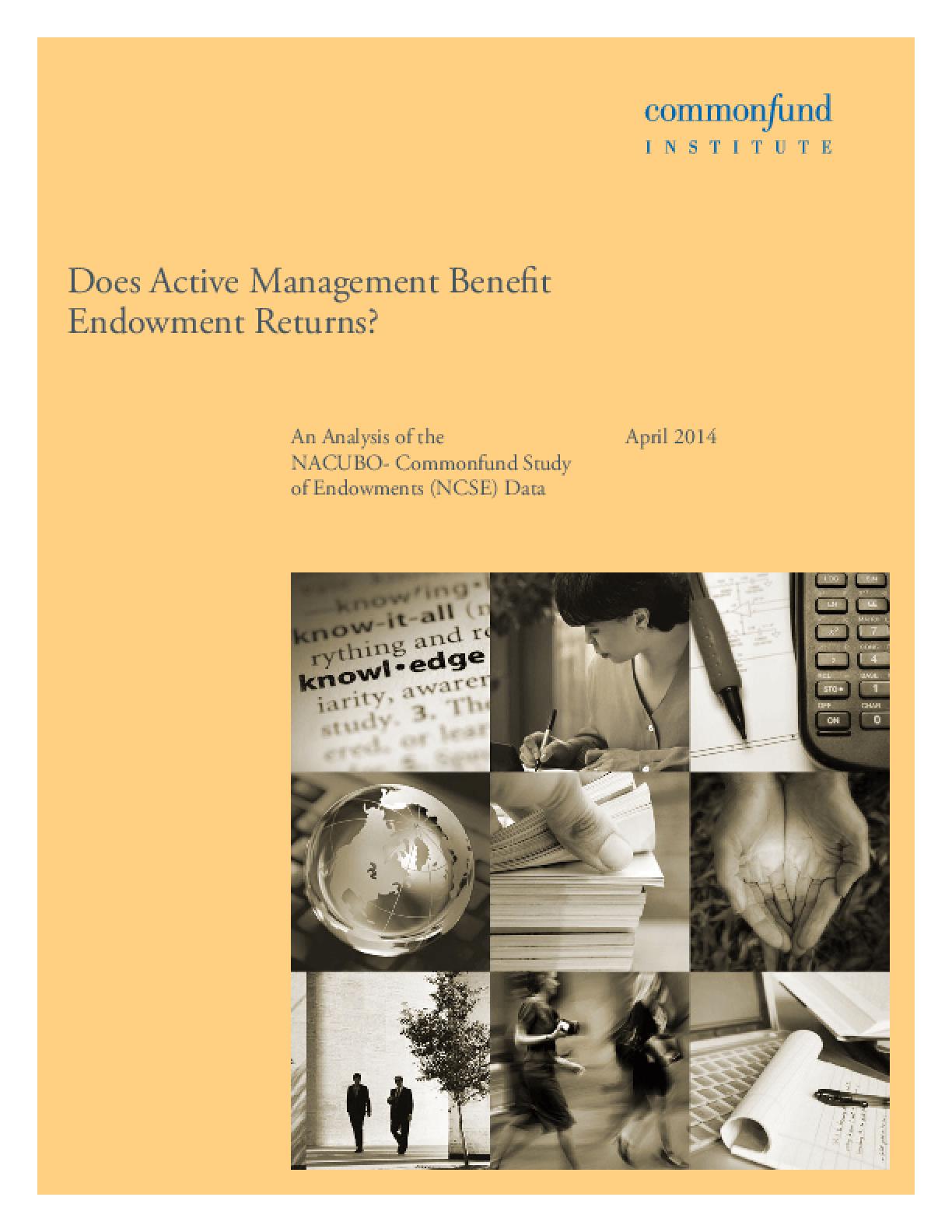 Does Active Management Benefit Endowment Returns?