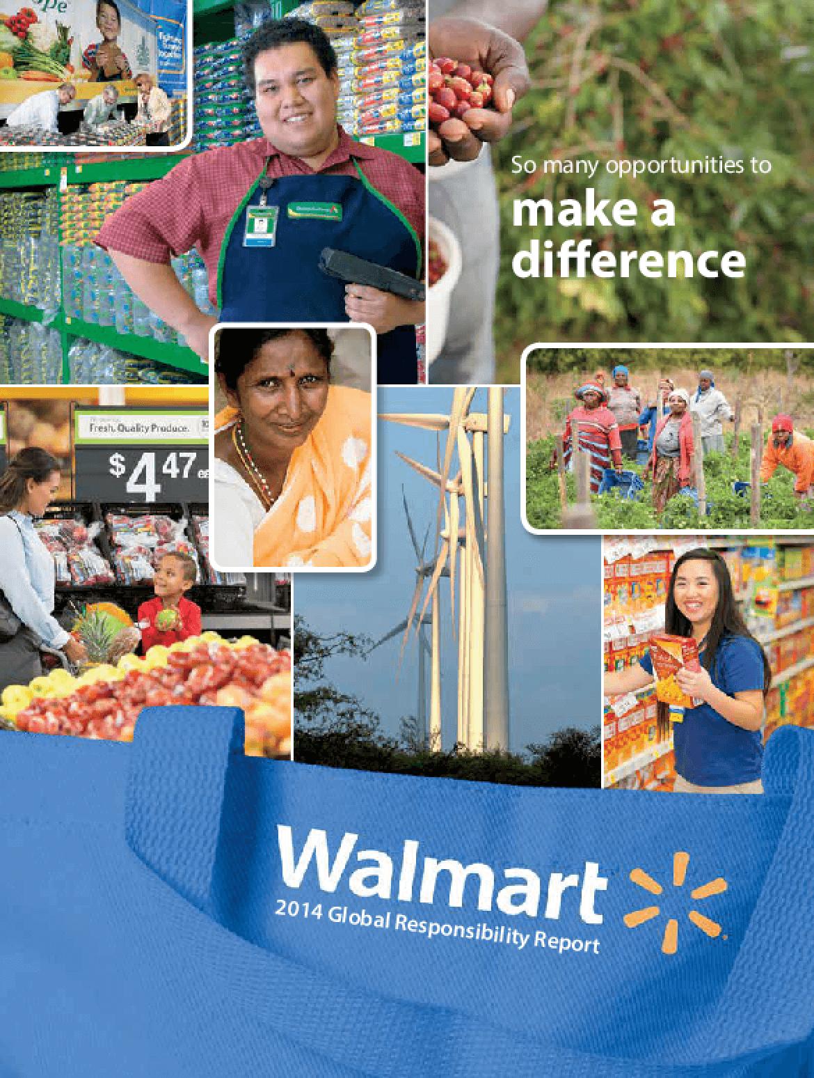 Walmart 2014 Global Responsibility Report
