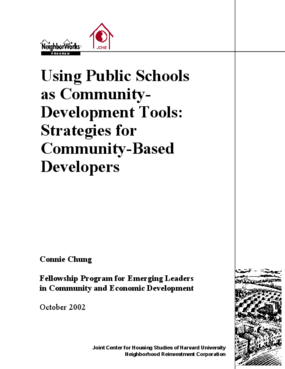 Using Public Schools as Community-Development Tools: Strategies for Community-Based Developers