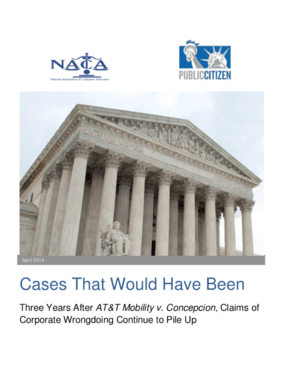 Cases That Would Have Been: Three Years After AT&T Mobility v. Concepcion, Claims of Corporate Wrongdoing Continue to Pile Up