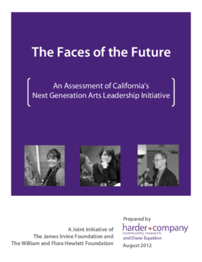 The Faces of the Future: An Assessment of California's Next Generation Arts Leadership Initiative