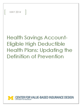 Health Savings Account - Eligible High Deductible Health Plans: Updating the Definition of Prevention