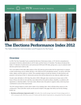 The Elections Performance Index 2012: The State of Election Administration and Prospects for the Future