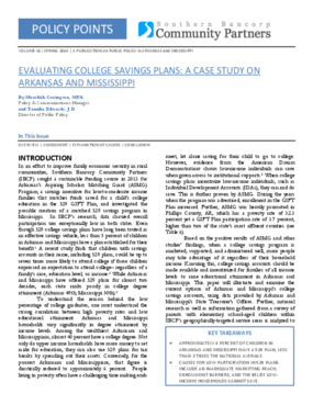 Evaluating College Savings Plans: A Case Study on Arkansas and Mississippi