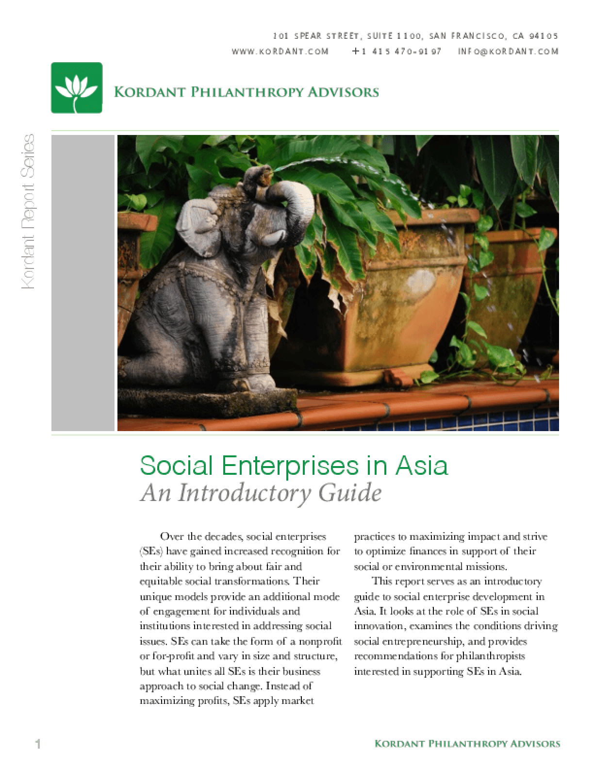 Social Enterprises in Asia: An Introductory Guide