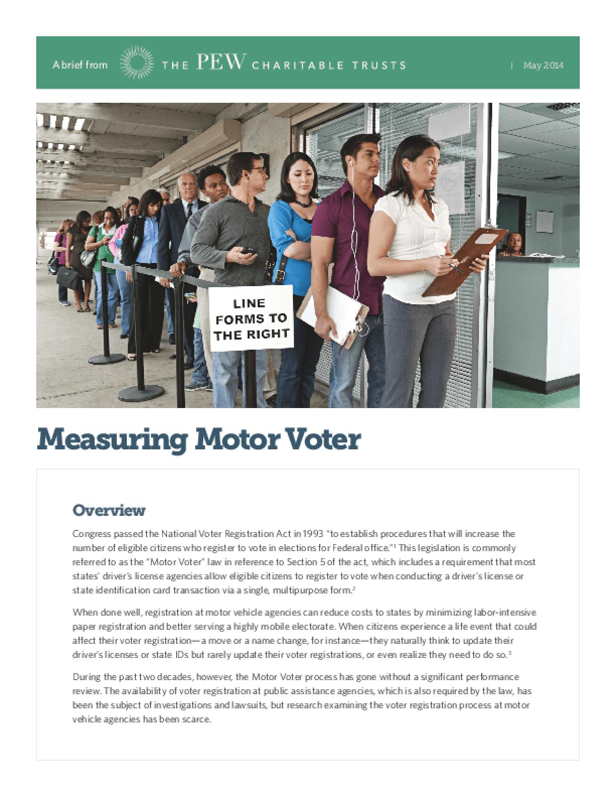 Measuring Motor Voter