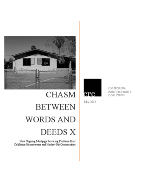 Chasm Between Words and Deeds X: How Ongoing Mortgage Servicing Problems Hurt California Homeowners and Hardest-Hit Communities