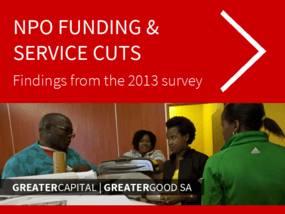 NPO Funding & Service Cuts: Findings from the 2013 Survey