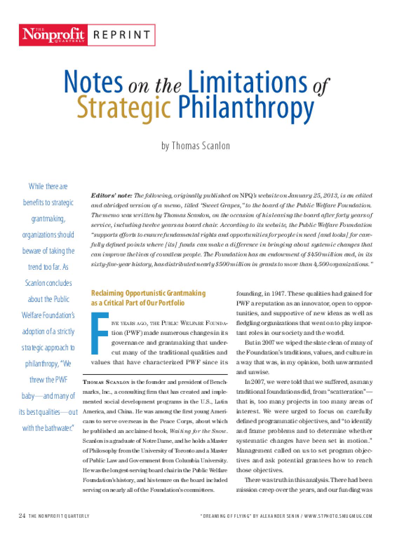 limitation of strategic management pdf