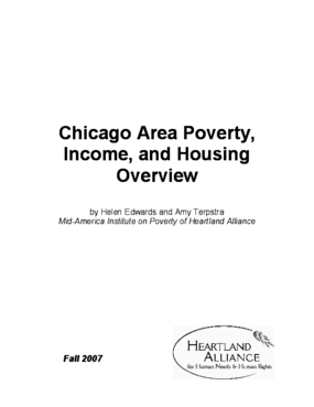 Chicago Area Income, Poverty, and Housing Overview