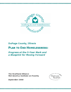 DuPage County, Illinois, Plan to End Homelessness: Progress at the Five-Year Mark and a Blueprint for Moving Forward