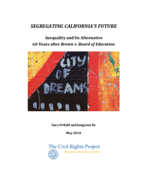 Segregating California's Future: Inequality and Its Alternative, 60 Years after Brown v. Board of Education