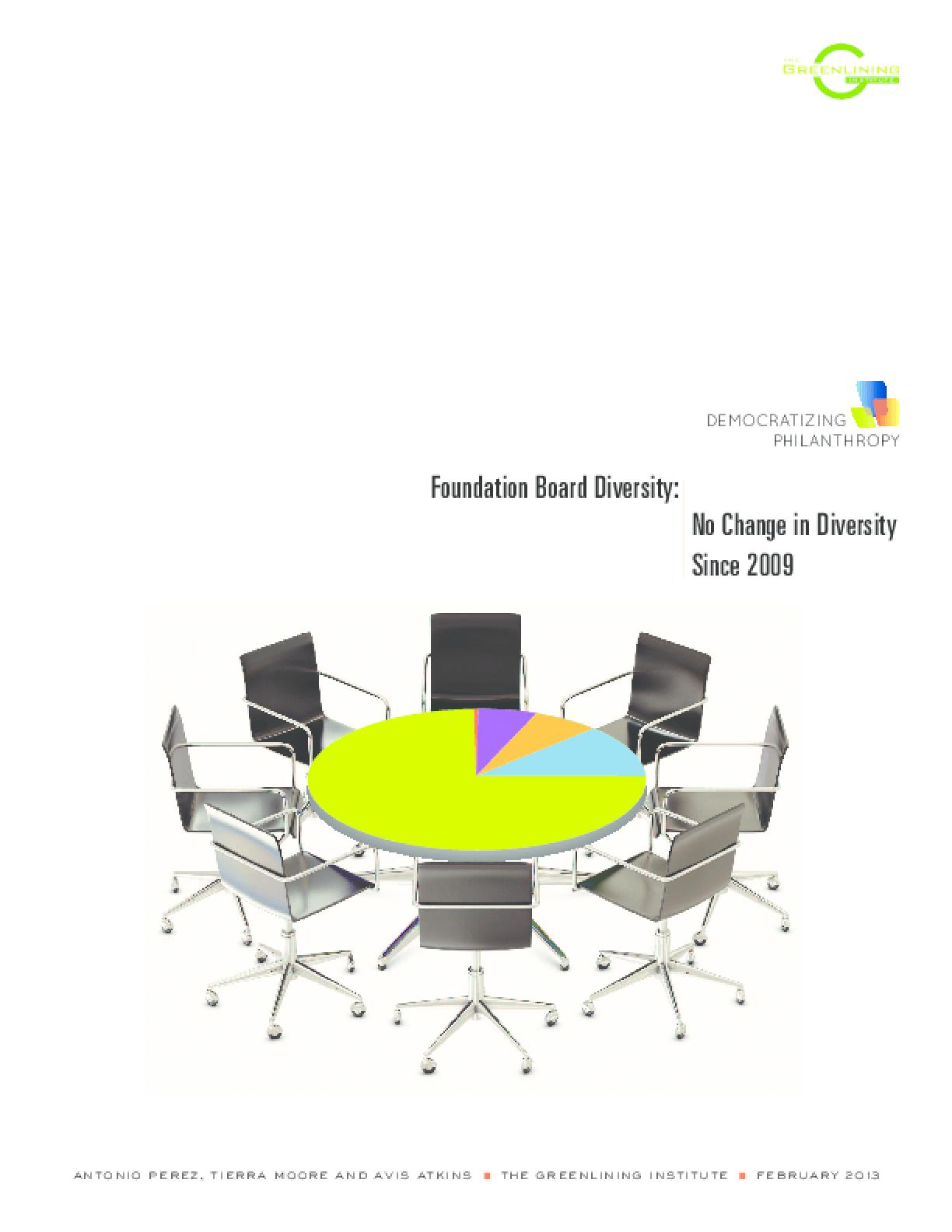 Foundation Board Diversity: No Change in Diversity Since 2009