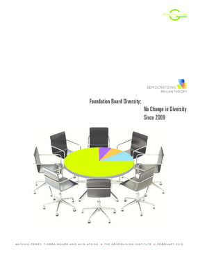 Foundation Board Diversity: No Change in Diversity Since 2009
