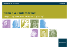 Women and Philanthropy: Inspiring Women, Inspired Giving