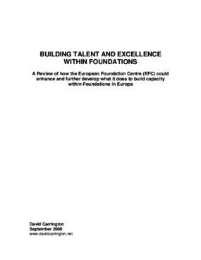 Building Talent and Excellence Within Foundations