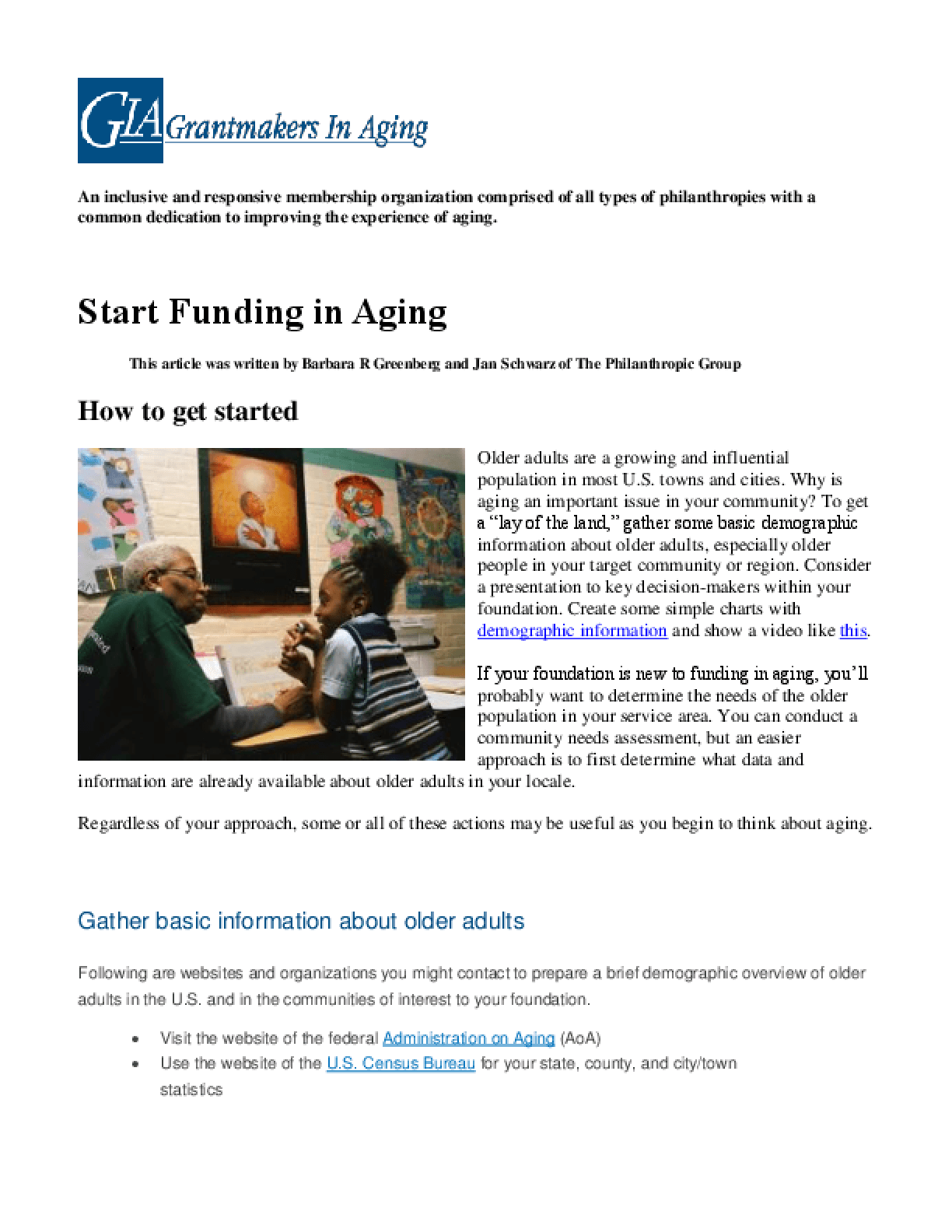 Grants in Aging: How to Get Started