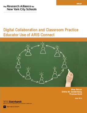 Digital Collaboration and Classroom Practice: Educator Use of ARIS Connect