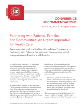 Partnering with Patients, Families and Communities: An Urgent Imperative for Health Care