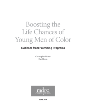 Boosting the Life Chances of Young Men of Color: Evidence From Promising Programs