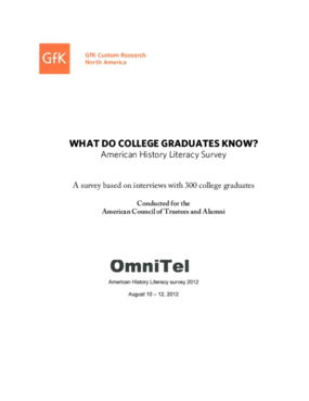 What Do College Graduates Know? American History Literacy Survey