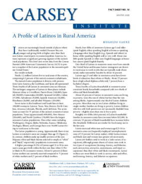 A Profile of Latinos in Rural America