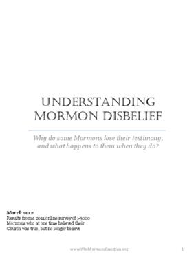 Understanding Mormon Disbelief