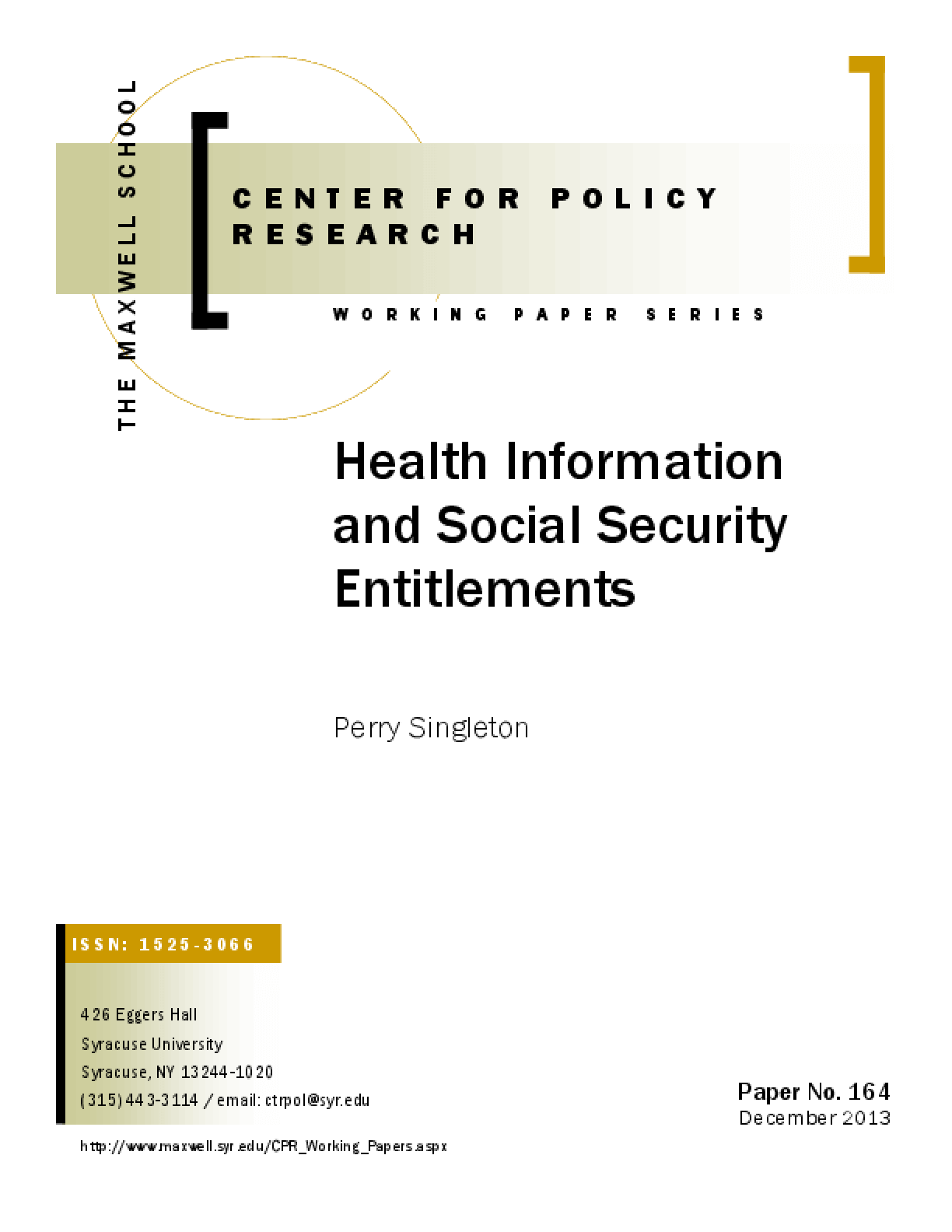 Health Information and Social Security Entitlements