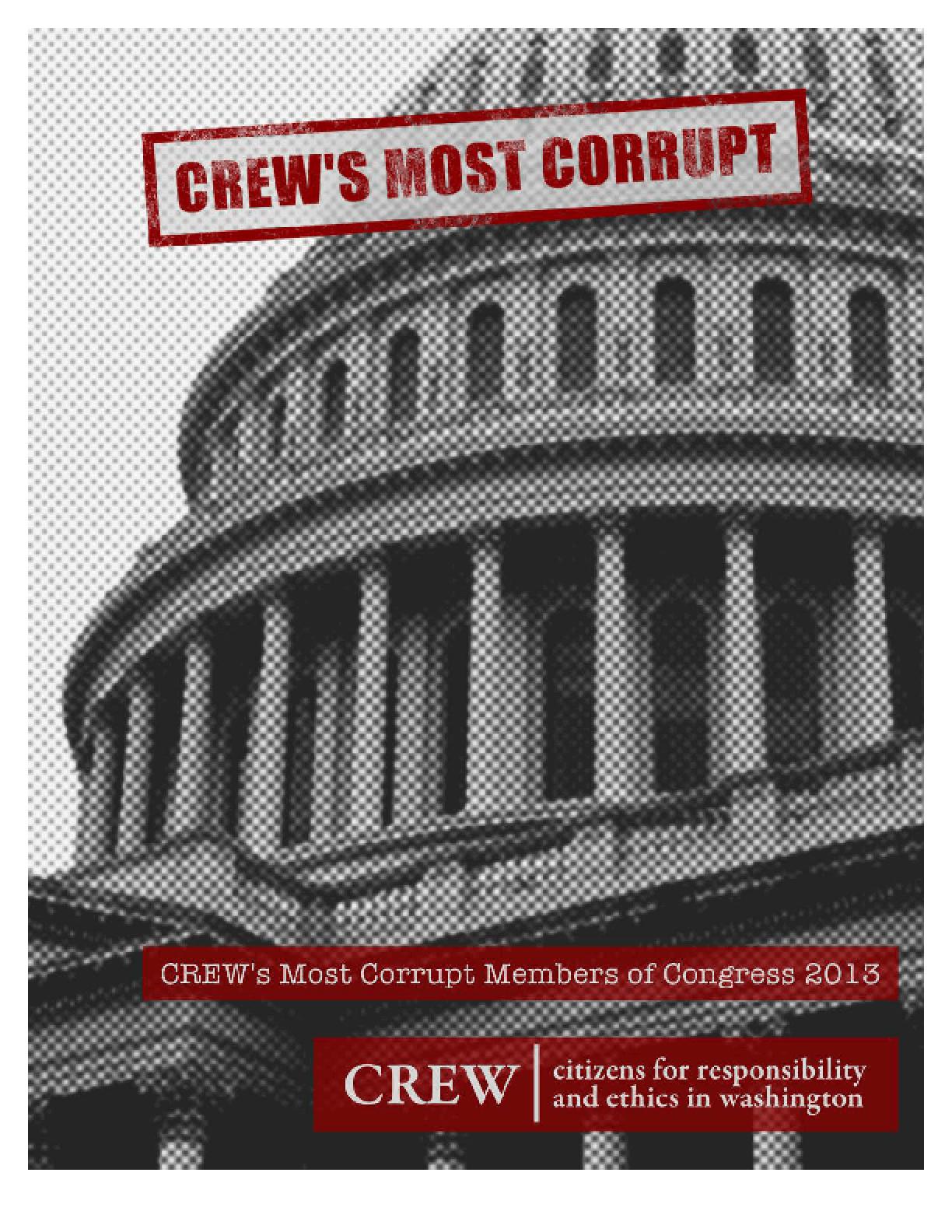 CREW's Most Corrupt Members of Congress 2013