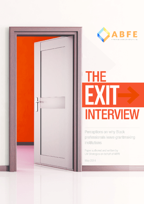 The Exit Interview: Perceptions on Why Black Professionals Leave Grantmaking Institutions