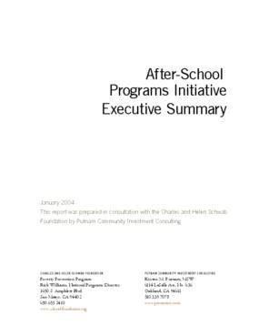 After-School Programs Initiative Report - Executive Summary