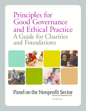 Principles for Good Governance and Ethical Practice. A Guide for Charities and Foundations