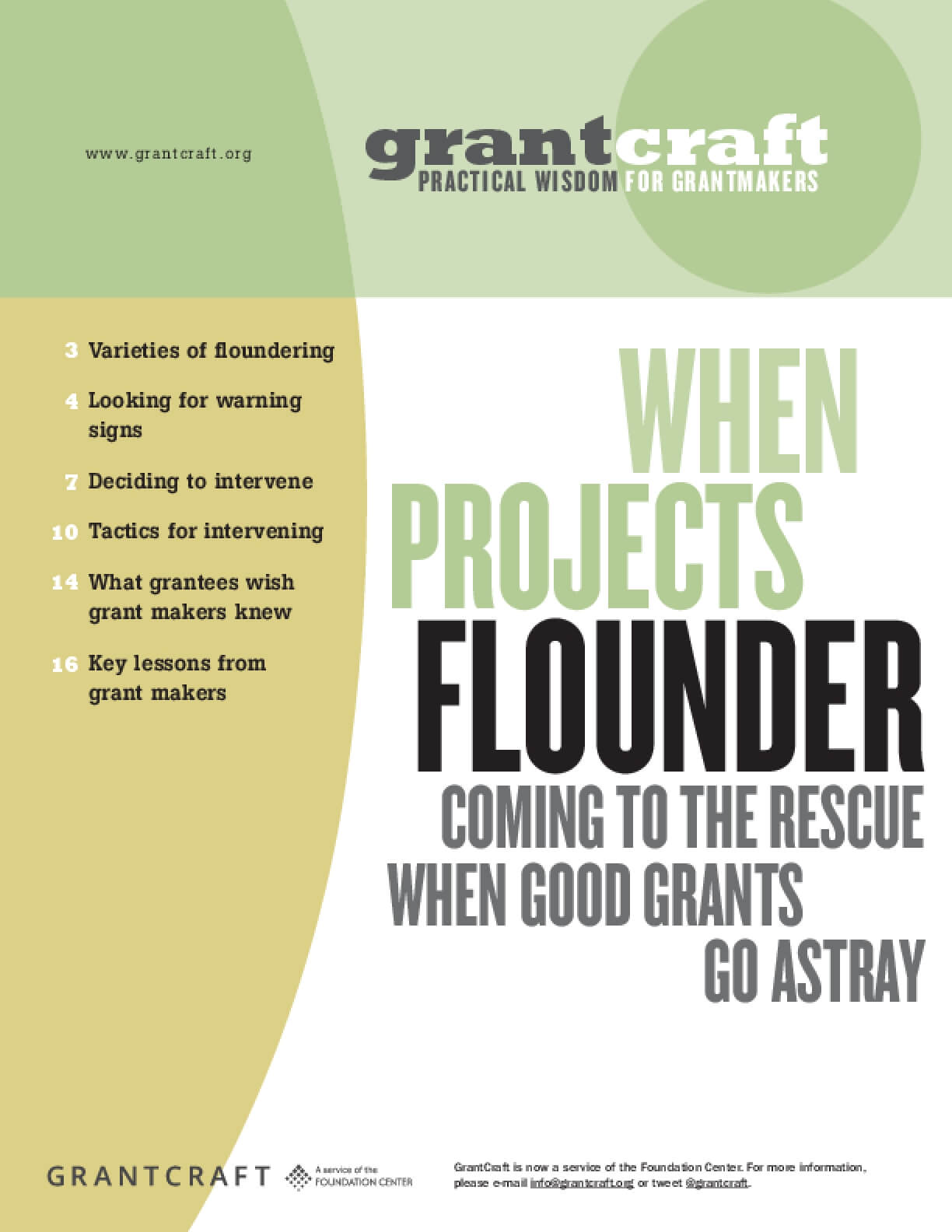When Projects Flounder: Coming to the Rescue When Good Grants Go Astray