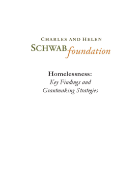 Homelessness: Key Findings and Grantmaking Strategies