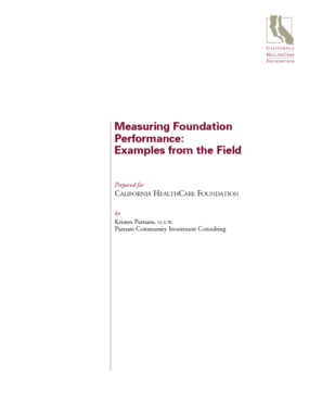 Measuring Foundation Performance: Examples from the Field