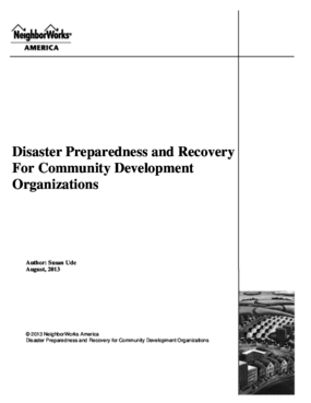 Disaster Preparedness and Recovery For Community Development Organizations