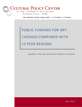 Public Funding for Art: Chicago Compared with 12 Peer Regions