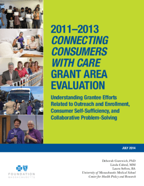 2011-2013 Connecting Consumer with Care: Grant Area Evaluation