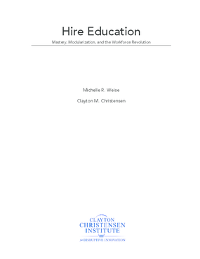 Hire Education: Mastery, Modularization and the Workforce Revolution