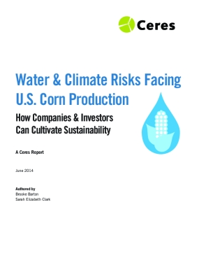 Water & Climate Risks Facing U.S. Corn Production