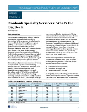 Nonbank Specialty Servicers: What's the Big Deal?