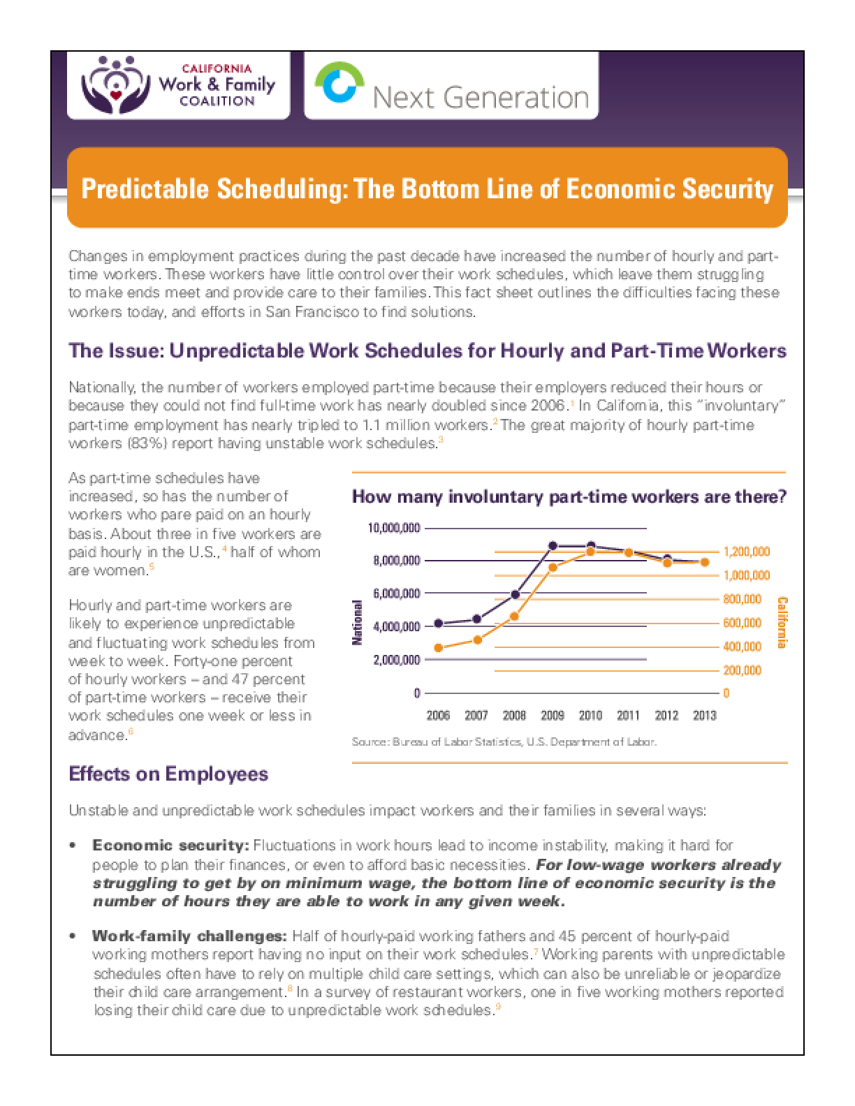 Predictable Scheduling: The Bottom Line of Economic Security