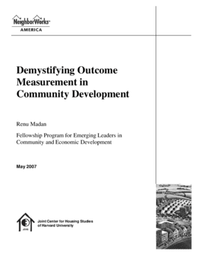 Demystifying Outcome Measurement in Community Development