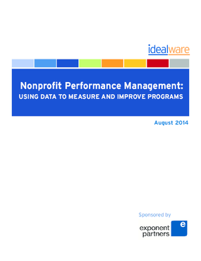 Nonprofit Performance Management: Using Data to Measure and Improve Programs