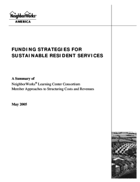Funding Strategies for Sustainable Resident Services