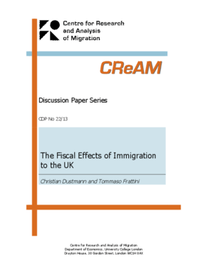 The Fiscal Effects of Immigration to the UK