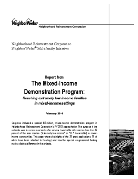Report from The Mixed-Income Demonstration Program: Reaching extremely low-income families in mixed-income settings