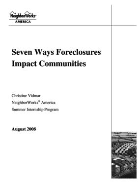 Seven Ways Foreclosures Impact Communities