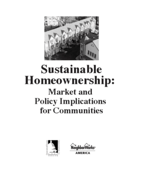 Sustainable Homeownership: Market and Policy Implications for Communities
